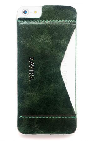 Кошелек-накладка iPhone 5/5s ZAVTRA. Цвет: зеленый