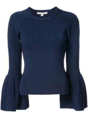 Блузка с расклешенными рукавами Jonathan Simkhai. Цвет: синий