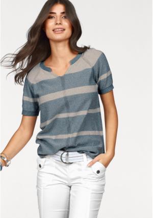 Пуловер BOYSENS BOYSEN'S. Цвет: синий/бежевый