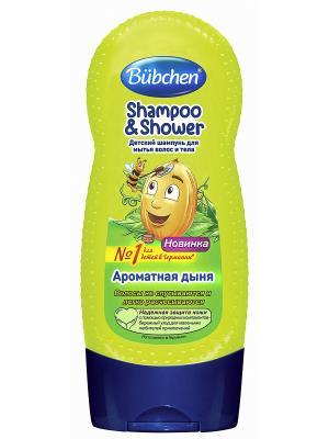 Шампунь для волос и тела Ароматная Дыня, 230 мл Bubchen. Цвет: салатовый