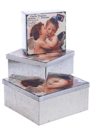 Набор коробок Ангел, 3 шт Davana. Цвет: белый