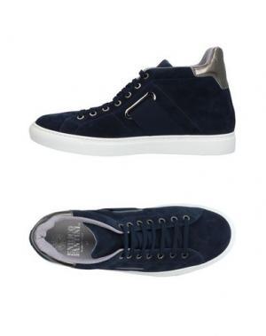 Высокие кеды и кроссовки ENRICO FANTINI. Цвет: темно-синий