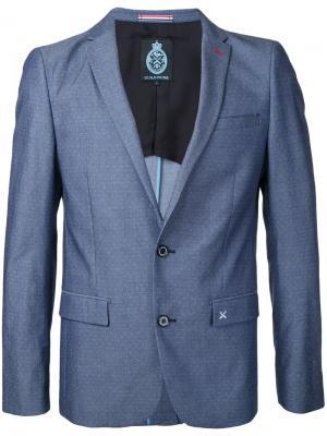 Пиджак с узором в горох Guild Prime. Цвет: синий