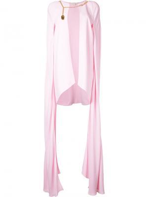 Накидка с цепочной деталью Antonio Berardi. Цвет: розовый и фиолетовый