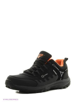 Мембранная обувь Ascot. Цвет: черный, оранжевый