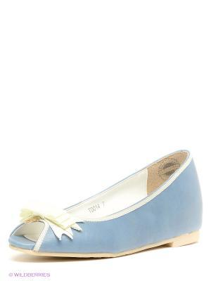 Балетки Le Bunny Bleu. Цвет: голубой, молочный