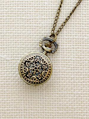 Кулон-часы Цветок и сердечки Mitya Veselkov. Цвет: бронзовый