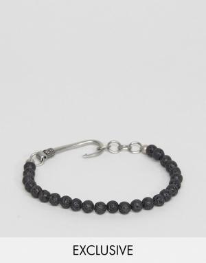 Seven London Черный браслет из бусин с застежкой-крючком. Цвет: черный