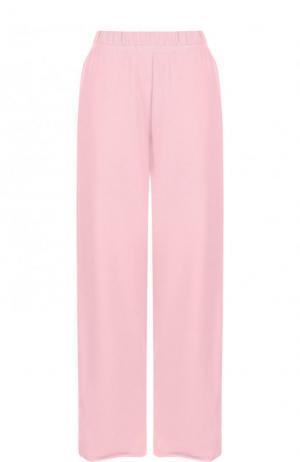 Хлопковые укороченные брюки с карманами Mm6. Цвет: розовый