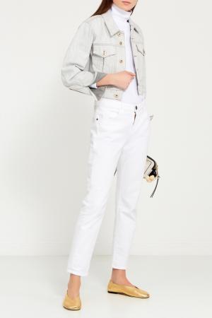 Джинсовая куртка с большими карманами Carven. Цвет: белый