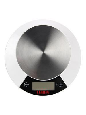 Весы кухонные электронные LEBEN. Цвет: белый