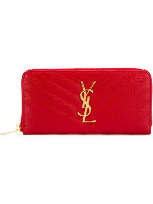 Кошелек Monogram Saint Laurent. Цвет: красный