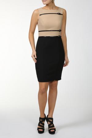 Платье Luisa Spagnoli. Цвет: песочно-бежевый