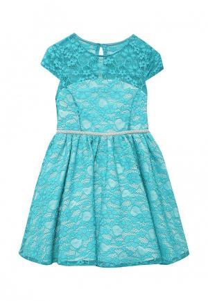 Платье Molly Rou. Цвет: бирюзовый