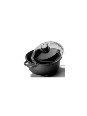 Кастрюля с крышкой  Optima 28 см 4,5 л Risoli. Цвет: черный