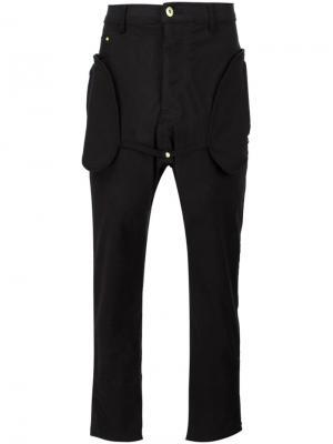 Брюки с овальными карманами Mr. Completely. Цвет: чёрный