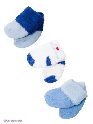 Носочки (3 пары) Luvable Friends. Цвет: голубой, белый