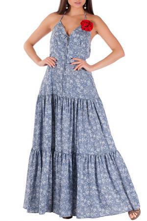 Платье Mannon. Цвет: серо-голубой