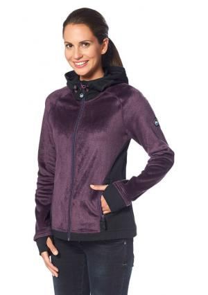 Флисовая куртка POLARINO. Цвет: цвет баклажана, черный