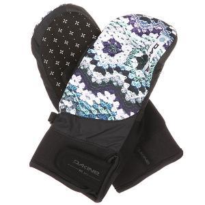 Варежки сноубордические женские  Electra Mitt Crochet Dakine. Цвет: черный,мультиколор
