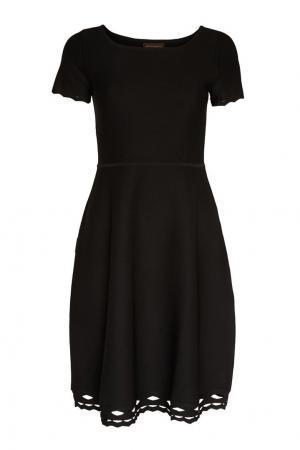 Платье с ажурной отделкой по низу Adolfo Dominguez. Цвет: черный