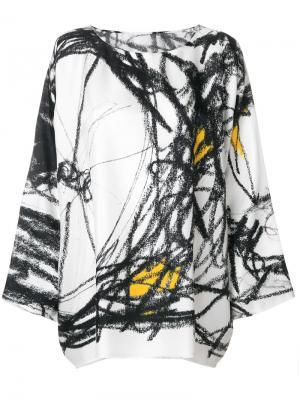 Блузка с вышивкой Daniela Gregis. Цвет: многоцветный