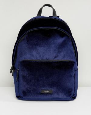 Knomo Темно-синий бархатный рюкзак Paddington Bathurst. Цвет: синий