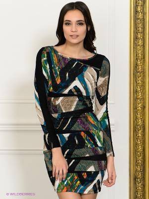 Платье NikiBiki. Цвет: черный, зеленый, белый