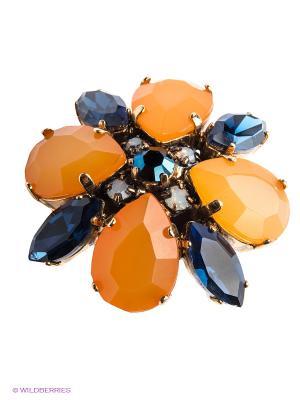 Кольцо Claudio Canzian. Цвет: оранжевый, золотистый, синий