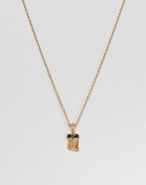 MISTER Ожерелье золотистого и черного цвета 2. Цвет: золотой