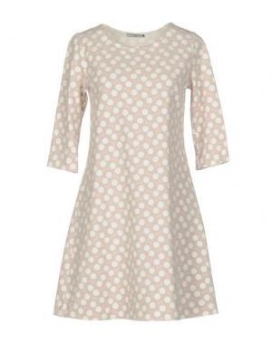 Короткое платье CIRCOLO 1901. Цвет: голубиный серый