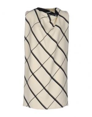 Короткое платье BOUCHRA JARRAR. Цвет: слоновая кость