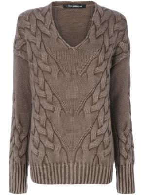 Фактурный свитер Iris Von Arnim. Цвет: коричневый