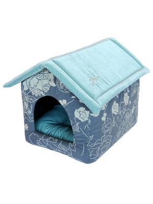 Дом со съемной крышей JOY. Цвет: морская волна, бирюзовый, серый меланж