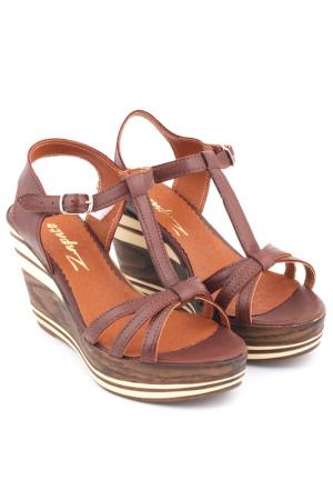 Wedge sandals ZAPATO. Цвет: brown