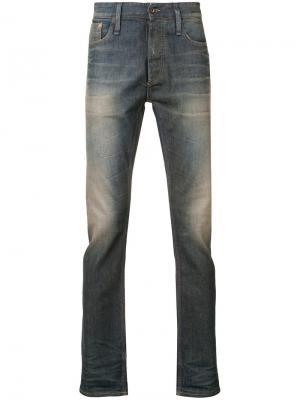 Faded effect jeans Denham. Цвет: синий