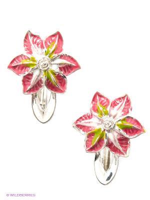 Серьги Lovely Jewelry. Цвет: розовый, серебристый
