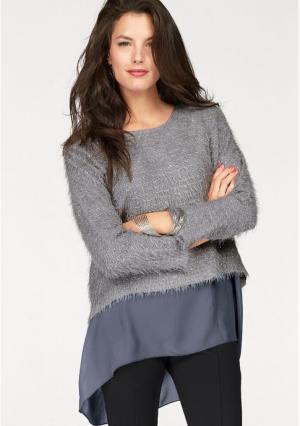 Пуловер 2 в 1 VIVANCE. Цвет: розово-сиреневый