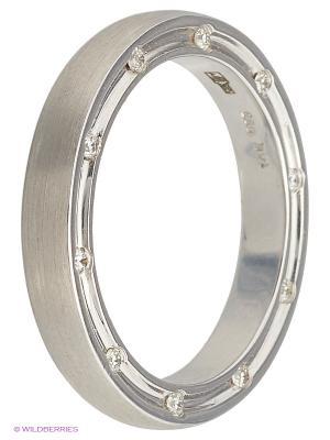 Кольцо обручальное JV ДЖЕЙ ВИ. Цвет: серебристый