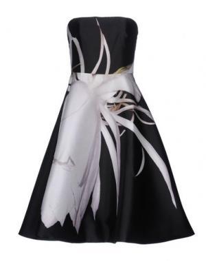 Короткое платье MONIQUE LHUILLIER. Цвет: черный