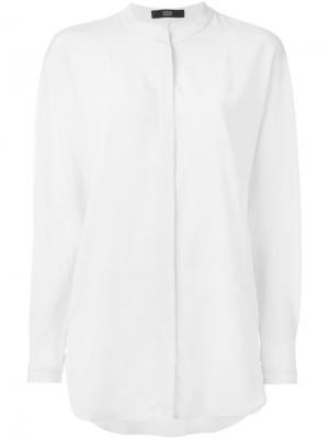 Рубашка с воротником-стойкой Steffen Schraut. Цвет: телесный
