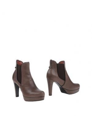 Полусапоги и высокие ботинки F.LLI BRUGLIA. Цвет: свинцово-серый