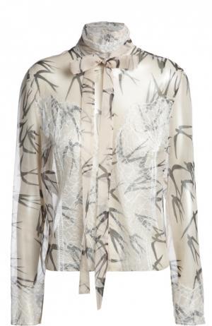 Блуза Rochas. Цвет: бежевый