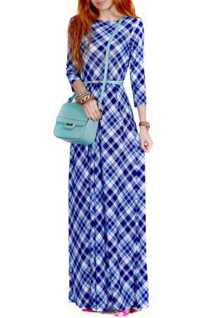 Платье FRANCESCA LUCINI. Цвет: мятный, клетка