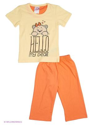 Комплект Vienetta Secret. Цвет: оранжевый, желтый