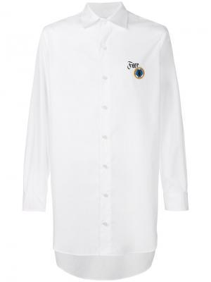 Рубашка с принтом Face Facetasm. Цвет: белый