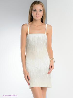 Платье FRENCH HINT. Цвет: белый, светло-бежевый