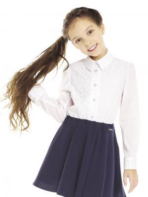 Блузки Карамелли. Цвет: белый