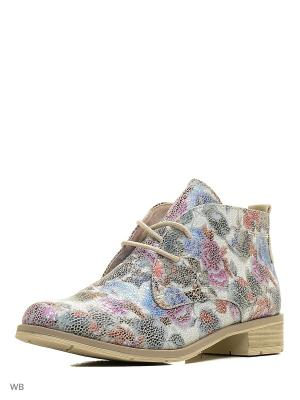 Ботинки Marco Tozzi. Цвет: голубой, розовый, белый