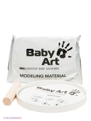 Подарок на память с отпечатком Baby Art. Цвет: белый